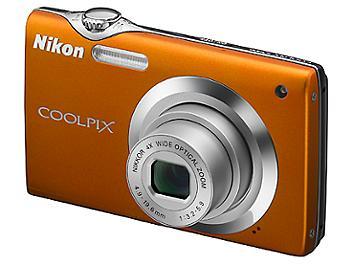 Nikon Coolpix S3000 Digital Camera - Orange