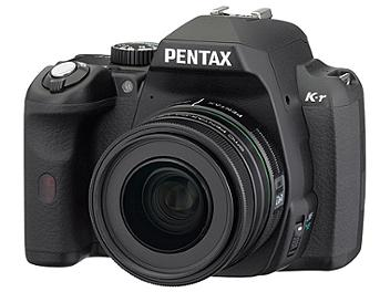 Pentax K-r Digital SLR Camera Kit with Pentax 18-55mm and 55-200mm Lens - Black