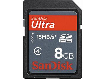 SanDisk 8GB Ultra Class-4 SDHC Memory Card 15MB/s (pack 10 pcs)