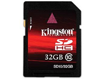 Kingston 32GB Class-10 SDHC Memory Card (pack 50 pcs)