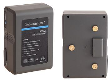 Globalmediapro Li230A Gold Mount Li-ion Battery 230Wh