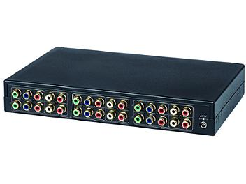 Globalmediapro SHE YS04MA 4x2 Component Video Switcher with RC01 RS232 Remote Control