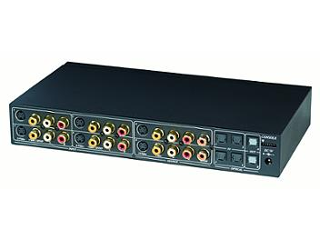 Globalmediapro SHE CS04M Composite Video & Audio Matrix Switcher with RC01 RS232 Remote Control