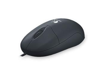 Logitech Optical Mouse PS/2 - Black (pack 8 pcs)