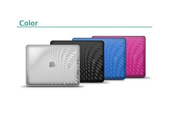 iLuv ICC802 iPad Cases - 4 Colors Set (Clear, Black, Blue, Pink)
