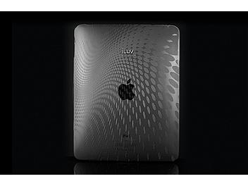 iLuv ICC802Blk iPad Case with Dot Wave Pattern - Black