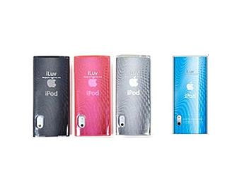 iLuv ICC309 iPod Case with Wave Pattern - 4 Colors Set (Black, Blue, Pink, White)