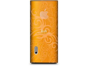 iLuv ICC310ORG Soft TPU Case with Flame Pattern iPod Case - Orange