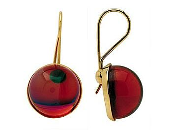 Baccarat 2103641 Eclipse Wire Earrings Ruby Crystal And Gold