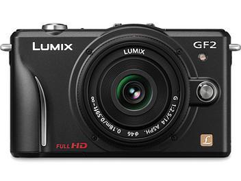 Panasonic Lumix DMC-GF2 Camera PAL Kit with 20mm Lens - Black