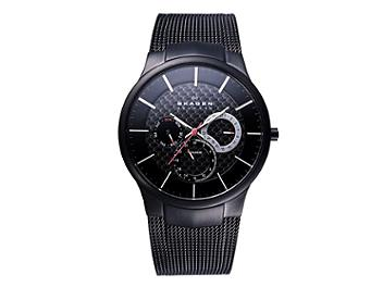 Skagen 809XLTBB Multifunction with Black Band Titanium Men's Watch
