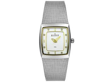 Skagen 380XSGS1 Gold Two-Tone on Mesh Women's Steel Watch