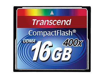 Transcend 16GB 400x CompactFlash Card (pack 2 pcs)