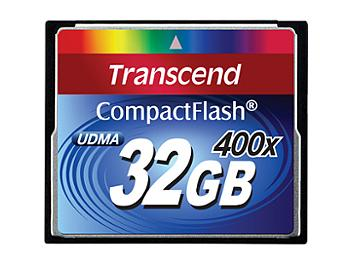 Transcend 32GB 400x CompactFlash Memory Card (pack 2 pcs)