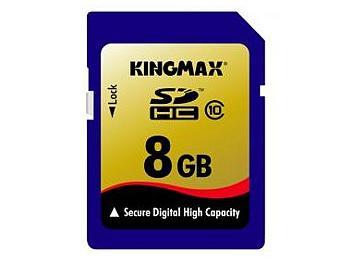 Kingmax 8GB Class-10 SDHC Memory Card (pack 2 pcs)