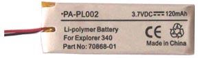 Globalmediapro PA-PL002 Battery for Plantronics Explorer 340