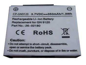Globalmediapro CP-GN9120 Battery for GN Netcom GN9120
