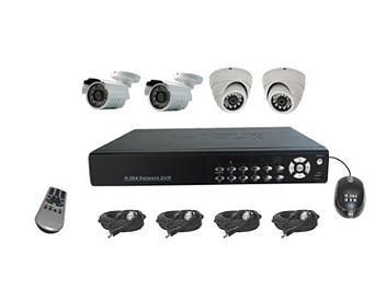 Senview D8004B-WDK2 4-Channel DVR & Camera Kit NTSC
