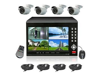 Senview D2104B-WK1 4-Channel DVR with 7-inch LCD & Camera Kit PAL
