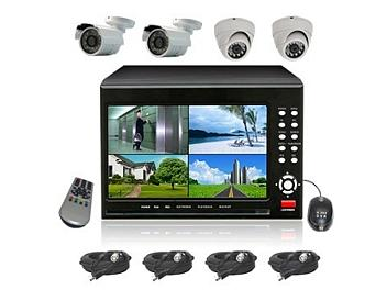 Senview D2104B-WDK3 4-Channel DVR with 7-inch LCD & Camera Kit PAL
