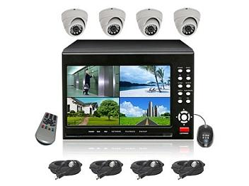 Senview D2104B-WDK2 4-Channel DVR with 7-inch LCD & Camera Kit PAL