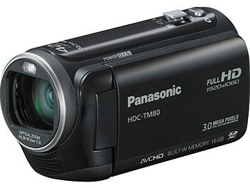Panasonic HDC-TM80 HD Camcorder PAL - Black