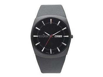 Skagen 696XLTBLB Black Leather Men's Watch