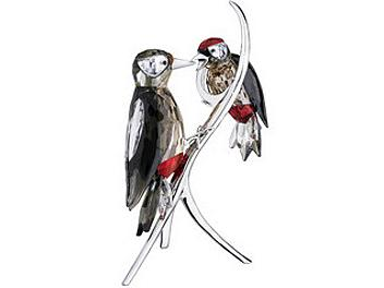 Swarovski 957562 Black Diamond Woodpeckers