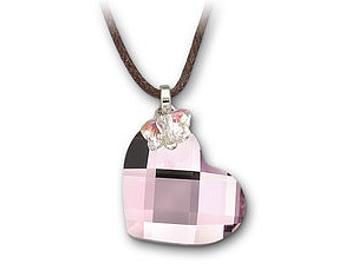 Swarovski 877254 Rose Heart and Butterfly Mini Pendant