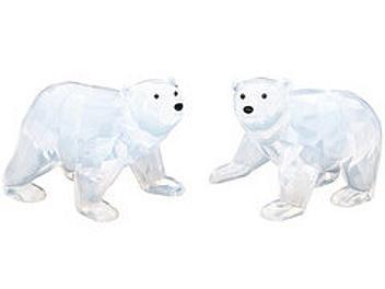 Swarovski 1080774 White Opal Polar Bear Cubs
