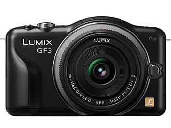 Panasonic Lumix DMC-GF3 Camera PAL Kit with 14mm Lens - Black