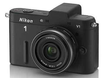 Nikon 1 V1 Camera Kit with 10mm Lens - Black