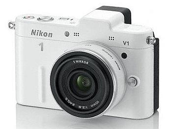 Nikon 1 V1 Camera Kit with 10mm Lens - White