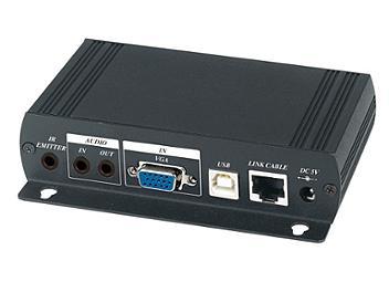 Globalmediapro SHE VKM03 VGA USB Audio RS232 IR CAT5 Extender (Transmitter and Receiver)