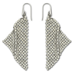 Swarovski 976061 Fit Silver Shade Pierced Earrings