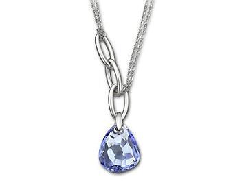 Swarovski 1035223 Mini Parallele Light Sapphire Necklace