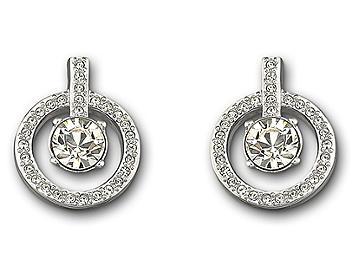 Swarovski 1039066 Lavender Pierced Earrings