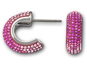 Swarovski 1062620 Maggy Fuchsia Pierced Earrings