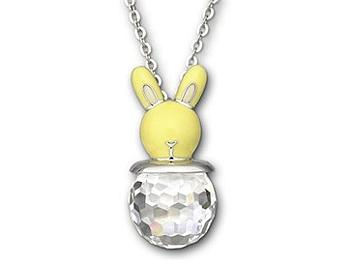Swarovski 1076321 Yellow Bunny Necklace