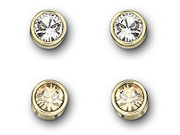 Swarovski 1092467 Harley Golden Shadow Pierced Earrings Set