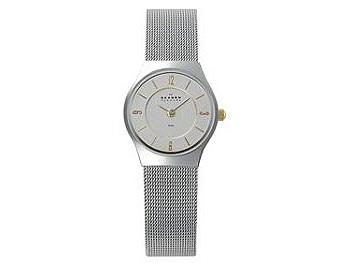 Skagen 233XSGSC Steel Two-Tone on Mesh Ladies Watch
