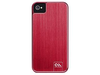 Case Mate CM017125 Barely There Brushed Aluminum Case for iPhone 4 - Red