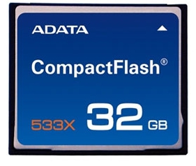 A-DATA 32GB Compact Flash 533x Memory Card (pack 5 pcs)