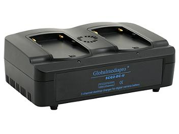 Globalmediapro SCQ2-DC-U 2-channel Charger + 2 x DCU65 Battery 65Wh with D-Tap + DCUF3 Adapter