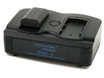 Globalmediapro SCQ2-DC-E6 2-channel Charger + 2 x DC-E6 Battery 14Wh