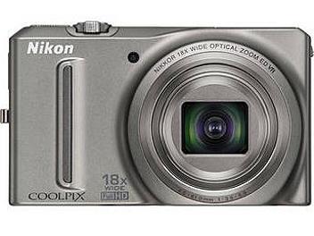 Nikon Coolpix S9100 Digital Camera - Silver