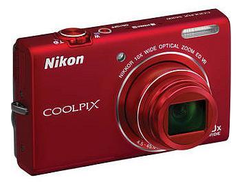 Nikon Coolpix S6200 Digital Camera - Red