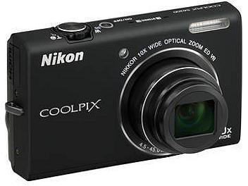 Nikon Coolpix S6200 Digital Camera - Black