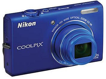 Nikon Coolpix S6200 Digital Camera - Blue