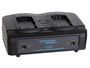 Globalmediapro SCQ2-DC-P 2-channel Charger + 2 x D88C Battery 65WH